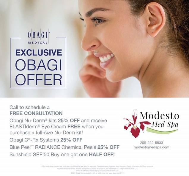 Modesto Med Spa Summer 2019 Obagi Medical Skin Care Specials